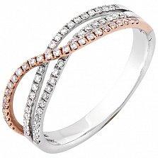 Золотое кольцо Сиали в комбинированном цвете с бриллиантами