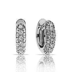 Серьги из белого золота Устина с бриллиантами