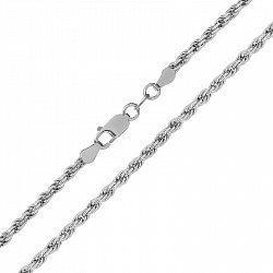 Серебряная цепь с родированием, 2,5 мм 000026218