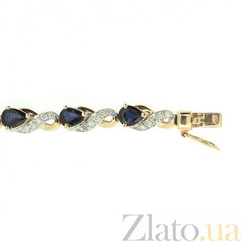 Золотой браслет с бриллиантами и сапфирами Милана ZMX--BCS-6279_K