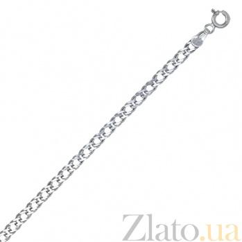 Серебряный браслет Блюз, 3 мм, 19 см 000027681