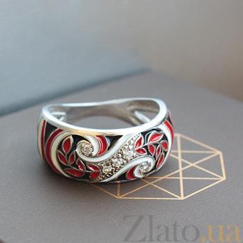 Серебряное кольцо Фентези с разноцветной эмалью 000007873