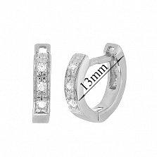 Серебряные серьги с цирконием Имтисаль