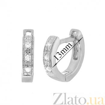 Серебряные серьги с цирконием Имтисаль SLX--С2Ф/183