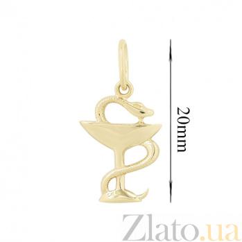 Золотой подвес Змейка 2П071-0047