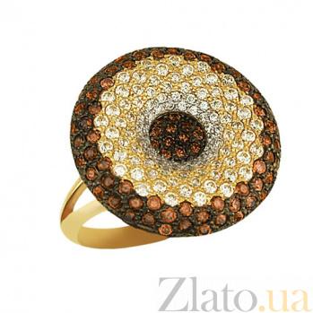 Кольцо из желтого золота Афина с цирконием VLT--ТТ184-1