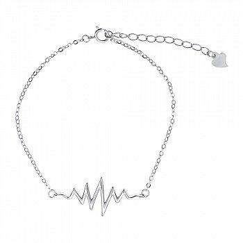 Серебряный браслет с подвеской 000149012