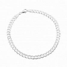 Серебряный браслет Тибальт с родированием, 4,5 мм