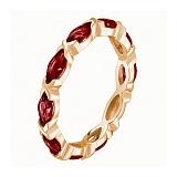 Кольцо в красном золоте Ирина с гранатом