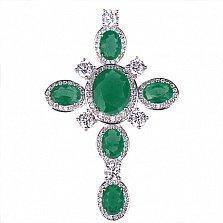 Серебряный крест Альбина с фианитами