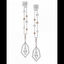 Серьги Argile с бриллиантами и розовыми сапфирами