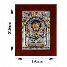 Икона Неупиваемая Чаша на деревянной основе, 18х23см