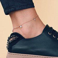 Золотой браслет на ногу Сочетание