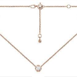 Колье из красного золота с кристаллом Swarovski 000134986