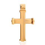 Золотой крестик Беззаботное счастье с бриллиантами и эмалью