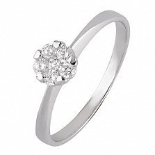 Золотое кольцо  с фианитами Эльфия