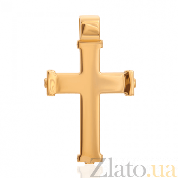 Золотой крестик Беззаботное счастье с бриллиантами и эмалью 000029392