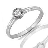 Кольцо из белого золота Ванесса с бриллиантом