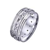 Золотое обручальное кольцо Вечность чувств с фианитами