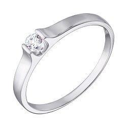 Кольцо из белого золота с цирконием Swarovski 000069531