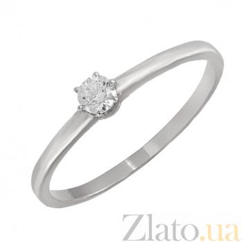 Золотое помолвочное кольцо с фианитом Фея в белом цвете 000023217