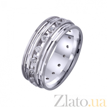 Золотое обручальное кольцо Вечность чувств с фианитами TRF--4221146