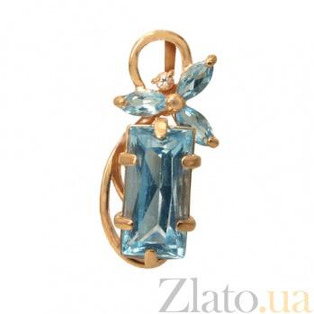 Золотой подвес с топазами Фридерика  PTL--1п264/26