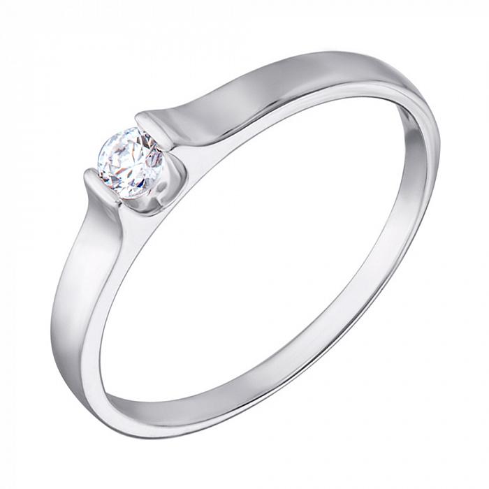 Кольцо из белого золота с цирконием Swarovski 000069531 000069531