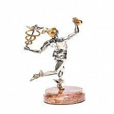 Серебряная статуэтка с позолотой Гермес