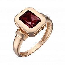 Кольцо в красном золоте Шарлотта с гранатом