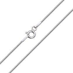Серебряная цепочка в плетении снейк 000127950