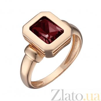 Кольцо в красном золоте Шарлотта с гранатом 000082779
