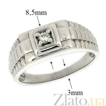Серебряный перстень с бриллиантом Сила ZMX--RD-3671-Ag_K