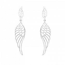 Серебряные серьги-подвески Легкие крылья 000064296