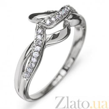 Кольцо из белого золота Мелисса с бриллиантами R0246