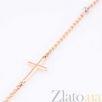 Золотой браслет с цветной эмалью Оберег глазик ONX--б02136