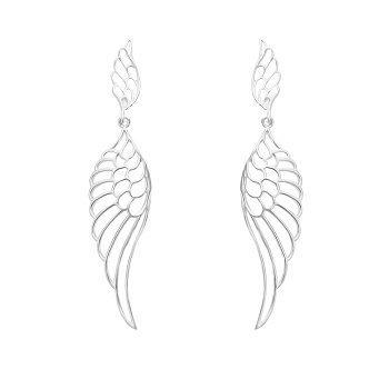 Срібні сережки-підвіски Легкі крила 000064296