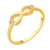 Кольцо в желтом золоте Марианна с фианитами