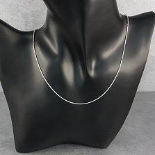 Серебряная цепочка Патрис в плетении снейк с широкой насечкой, 1мм