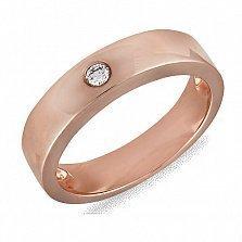 Обручальное кольцо Вечность из красного золота с бриллиантом