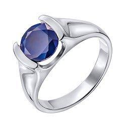 Серебряное кольцо с сапфиром 000132338