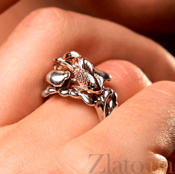 Эксклюзивное золотое кольцо с бриллиантами 3 желания 000029376