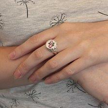 Серебряное кольцо Розалинда с разноцветной эмалью