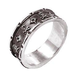 Кольцо из серебра Jolly Roger с чернением 000091447
