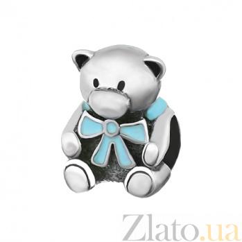 Серебряный шарм Медвежонок 000028750