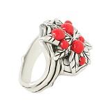 Серебряное кольцо Лесные ягоды с эмалью