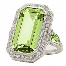 Кольцо Ashkenazi с бериллом и бриллиантами