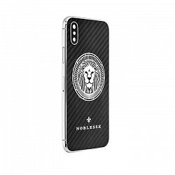 Apple IPhone X Noblesse CARBON EDITION LION в черном карбоне, серебре и белом золоте 000118840