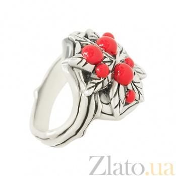 Серебряное кольцо Лесные ягоды с эмалью 3К203-0028