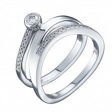 Кольцо из белого золота Аполлония с бриллиантами